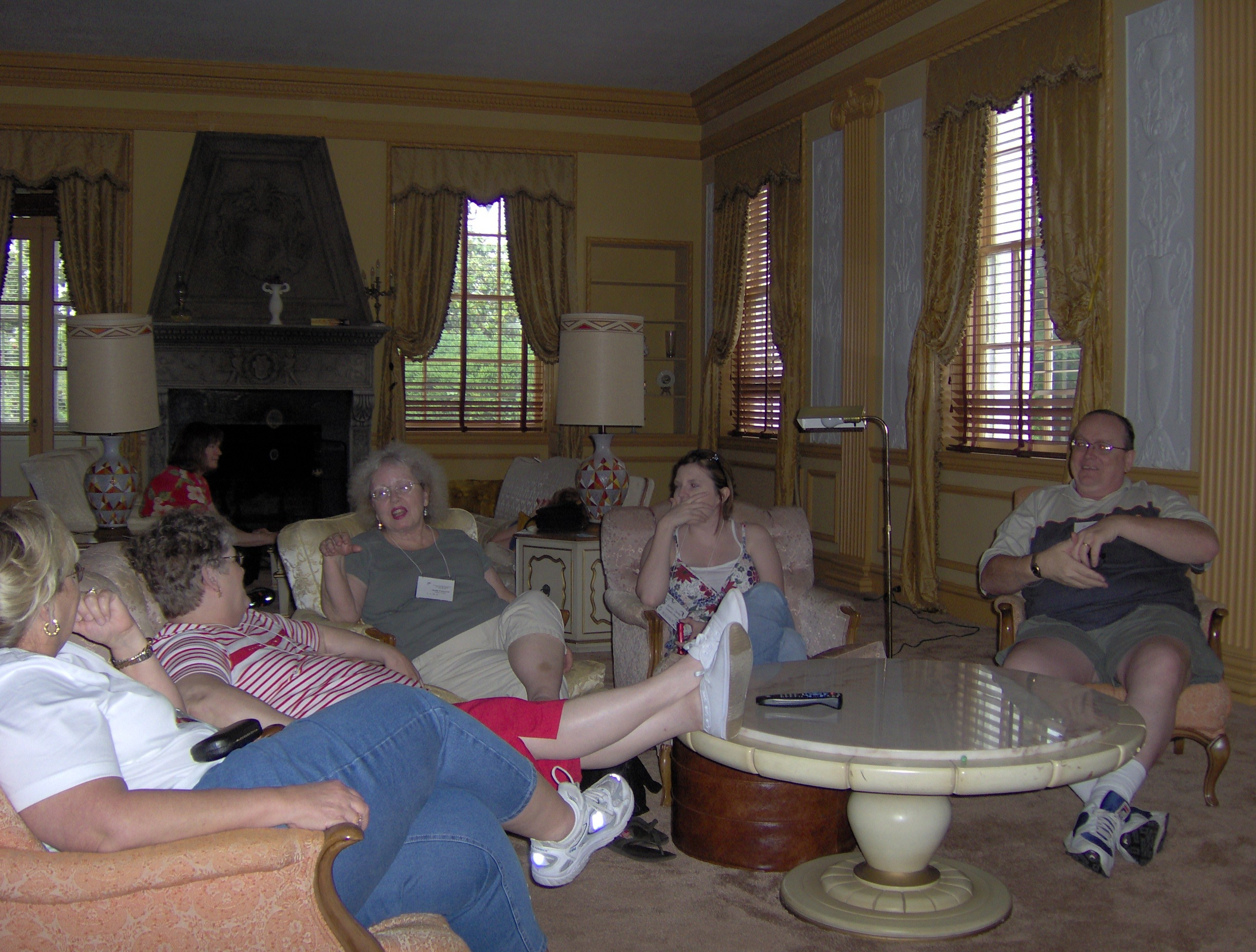 2007 OFHS Meeting in Charlottesville, VA (Some OFHS members relaxing inside Tiverton - Frederick Owsley House