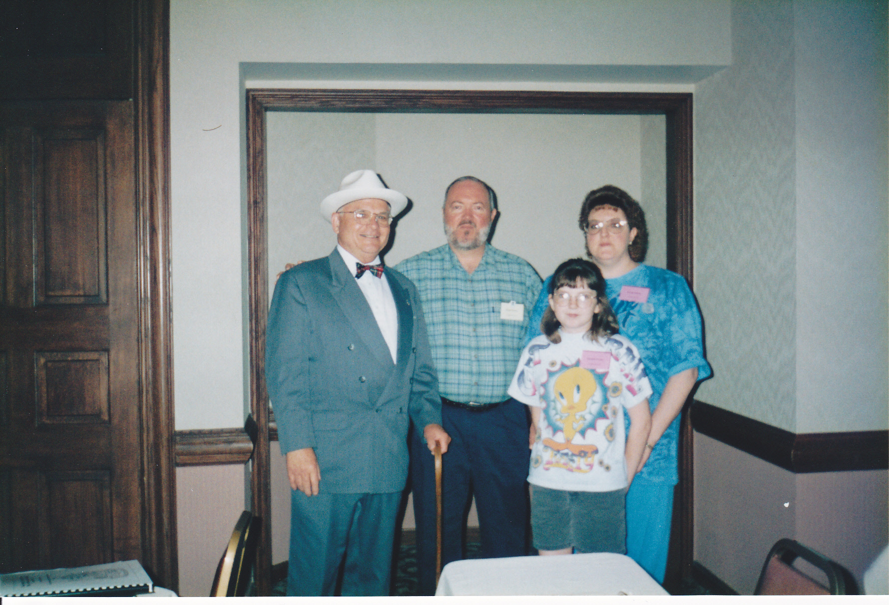 1997 OFHS meeting in Independence, MO (Harry Truman with Floyd, Karen, and Kambli