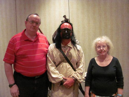 2010 OFHS Meeting in Knoxville, TN. (l-r) Ronny Bodine, Chief Dragging Canoe (Joe Guy), and Sheila Patterson.